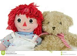 old rag doll with teddy bear stock photo image 42169967