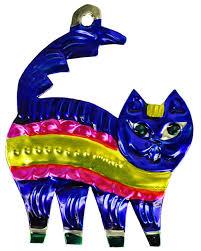 mexican mob cheshire cat tin ornament rebel rebel bruges