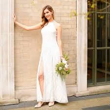 highstreet wedding dresses we tried out boohoo s 35 wedding dress cheap high