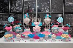 candy table design ideas with blue and pink color schemes nytexas