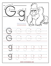 Preschool Worksheet Printable Letter G Tracing Worksheets For Preschool A4