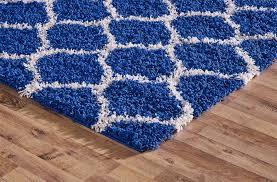 modern royal blue trellis shaggy carpet contemporary moroccan area