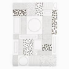 black and white wrapping paper wrapping paper in black white poketo