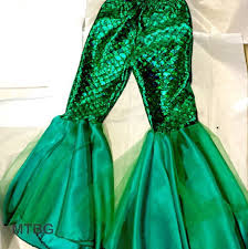 Mermaid Halloween Costume Toddler Dancer Custom Mermaid Pantstoddler Girls Costume