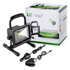 le better lighting experience le 20w led work light rechargeable waterproof flood light security