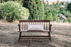 antique spindle back bench trunks u0026 tales event planning
