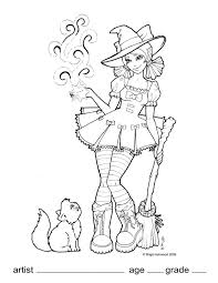 Kids Coloring Pages Halloween by Wicked Wendy Coloring Page By Brigidashwood On Deviantart