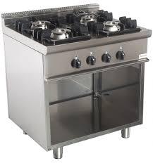 vente materiel cuisine professionnel cuisinez avec notre fourneau 4 ou 6 feux gaz sur armoire ouverte