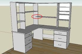 Corner Desk Shelves Best Parson Corner Desk With Shelving Unit Brown Stunning