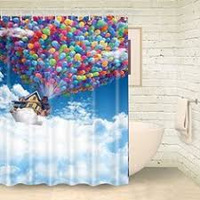 Amazon Com Shower Curtains - amazon com sail boat waves and octopus old look home textile