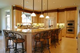 amazing l shaped kitchen diner with barstools model on floortile