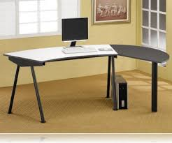 Computer Desk Work Station Wrap Around Computer Desk Workstation L Desks Coaster 800447