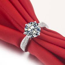 wholesale engagement rings wholesale 3 ct synthetic diamond rings sterling silver wedding