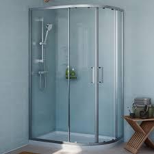 B Q Home Decor by Cooke U0026 Lewis Exuberance Offset Quadrant Shower Enclosure With