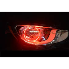 led halo headlight accent lights flashtech v 3 color change led halo headlight kit for hyundai accent
