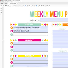 weekly family meal planner template editable meal plan printable printable crush use this editable printable meal planner to keep track of your menu plan and health goals
