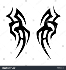 tatoo design tribal tribal tattoo art designs sketched simple stock vector 622461944