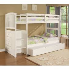 White Bunk Bed With Trundle White Bunk Bed With Trundle Furniture Favourites