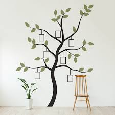 Wall Mural White Birch Trees Family Tree Wall Decal With Faux Frames