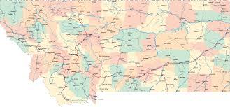 Road Map Usa Montana Road Map Montana Usa U2022 Mappery