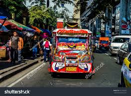 philippine jeepney interior cubaoquezon city philippines october 4 2015 stock photo 331176653