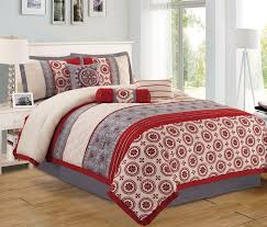 Black And Red Comforter Sets King Bedroom Beautiful Gray Red Comforter Sets For Queen Bed High