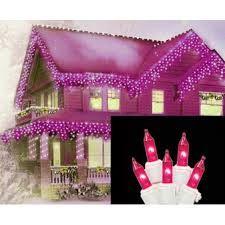 set of 100 pink icicle lights white wire walmart