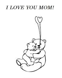 i love you mom mother u0027s day hug greeting card coloring pages