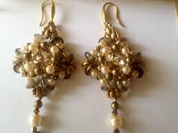 Crystal Chandelier Earrings Beadfeast Incanto Earrings By Monica Vinci My Beadwork Pinterest Beadwork