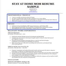 stay at home mom resume sample u0026 writing tips resume companion