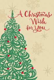 christmas card christmas tree wish christmas card for someone special greeting