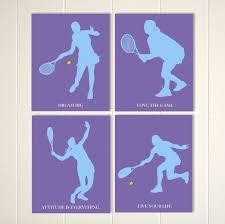 tennis wall art tennis room decor teen wall art