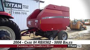 case ih rbx562 5x6 bales std pickup 1000 pto baler round sold