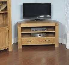 Modern Furniture Tv Table Rivermead Solid Oak Modern Furniture Widescreen Corner Tv Cabinet