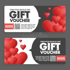 s day sales gift vouchers with colored hearts great for s day sales