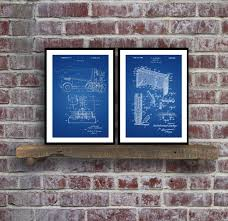 wall blueprints hockey patents set of 2 prints hockey prints hockey posters
