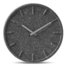 felt wall clock design by leff amsterdam u2013 burke decor