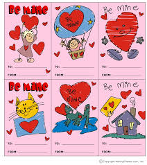 kids valentines cards printable cards