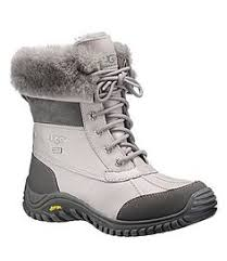 ugg s adirondack ii leather apres ski boots senna haircalf wedge bootie in black leather black suede shoes