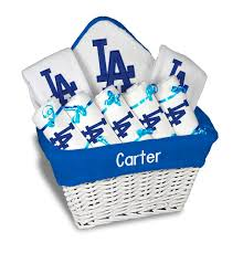 Gift Baskets Los Angeles Personalized Los Angeles Dodgers Large Gift Basket Mlb Baby Gift