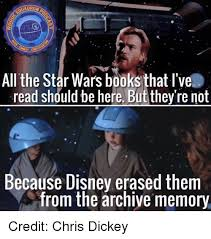 Star Wars Disney Meme - oronpo all the star wars books that i ve read should be here but