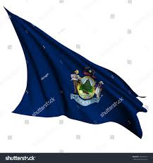 State Of Maine Flag Maine Flag Usa State Flags Collection Stock Illustration 109105121