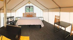 glamping tents bear valley