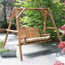 Porch Swing With Stand Wood Porch Swing Frame Sets