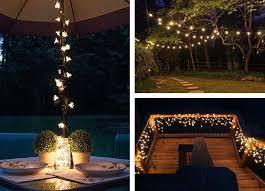 simple outdoor christmas lighting ideas homemade garden lighting
