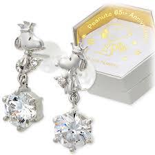 earrings brands jwell rakuten global market snoopy snoopy silver