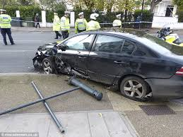 london police chase ends with crash inches from two rival tv