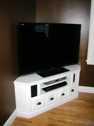 white corner television cabinet vintage white painted wooden corner tv cabinet with cubism drawers