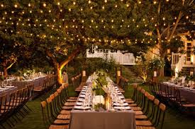 String Lights Outdoor Wedding by Full Service Catering New Jersey New York Pennsylvania