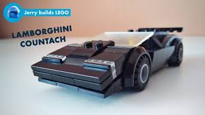 lego lamborghini veneno how to build lego lamborghini countach moc 18 youtube